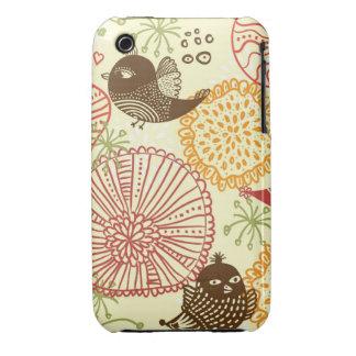 doodle birds iphone 3 case