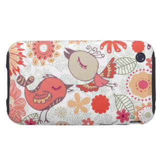 doodle birds iPhone 3 tough case
