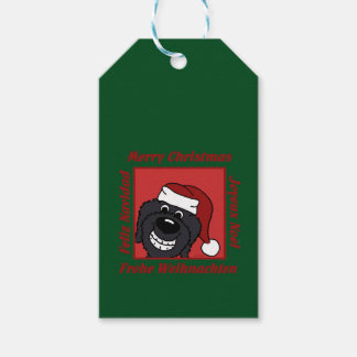 Doodle black Christmas Gift Tags