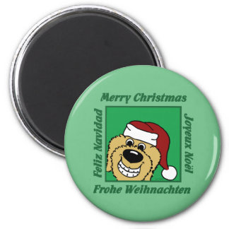 Doodle blond Christmas Magnet