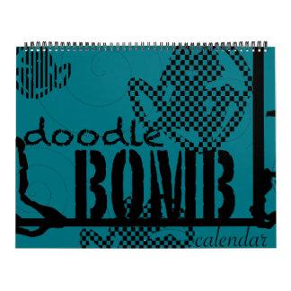 Doodle Bomb Coloring Book Calendars