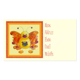 Doodle Bug Butterfly Profile Card Business Card Template