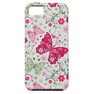 doodle butterflies iPhone 5 cases