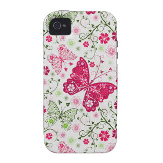 doodle butterflies iPhone 4/4S case