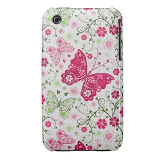doodle butterflies Case-Mate iPhone 3 case