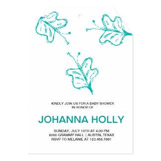 doodle butterflies personalized announcement