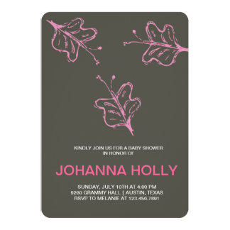 doodle butterflies 5x7 paper invitation card