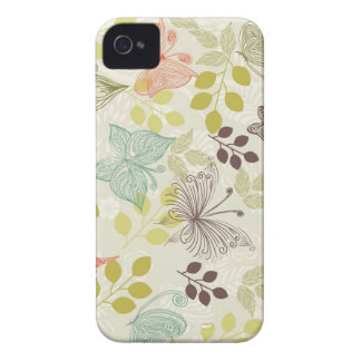 doodle butterflies iphone 4 case