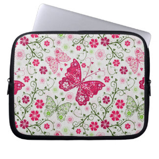 doodle butterflies laptop sleeve