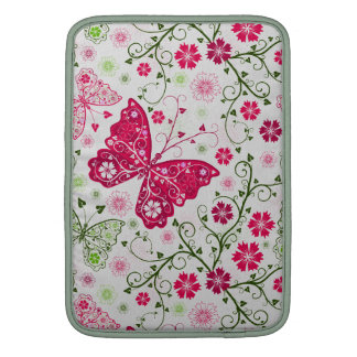 doodle butterflies MacBook sleeves