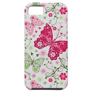 doodle butterflies tough iPhone 5 case