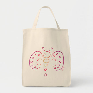 Doodle Butterfly - Tote Grocery Tote Bag