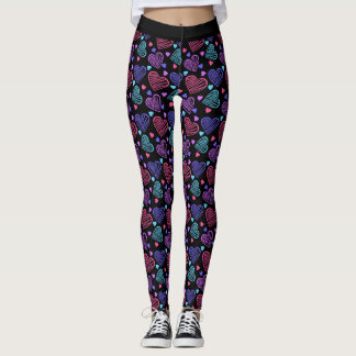 Doodle Candy Hearts Leggings