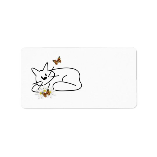 Doodle Cat Address Label
