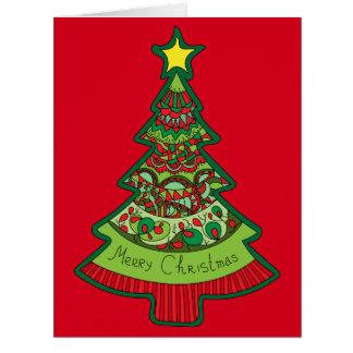 Doodle Christmas Tree Card