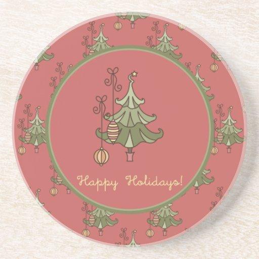 Doodle Christmas Tree Coaster