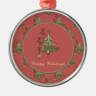 Doodle Christmas Tree Ornament