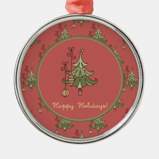 Doodle Christmas Tree Ornament