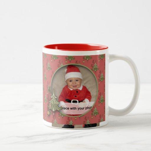 Doodle Christmas Tree Photo Mug