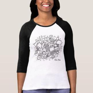Doodle Cloud (Black & White) T-Shirt