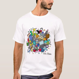 Doodle Cloud Men's T-Shirt (Color)