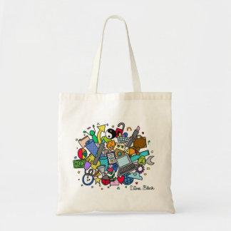 Doodle Cloud Tote Bag (Color)