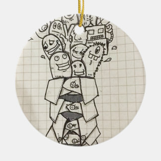 Doodle collections ceramic ornament