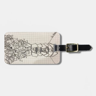 Doodle collections luggage tag
