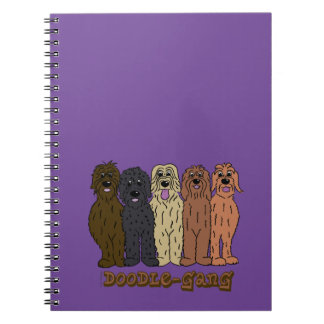 Doodle course spiral note books