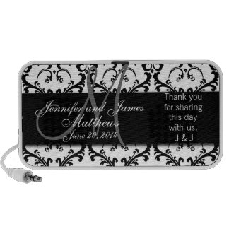 Doodle Damask Thank You Wedding Favour Gift Speakers