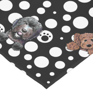 Doodle Dogs Black Table Runner