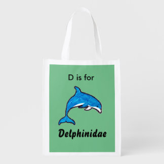 """Doodle Dolphin"" Tote Bag"
