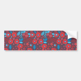 Doodle floral pattern bumper sticker