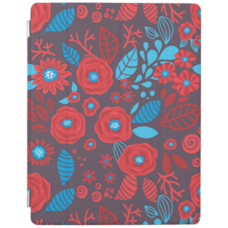 Doodle floral pattern iPad cover