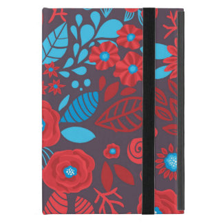 Doodle floral pattern iPad mini covers