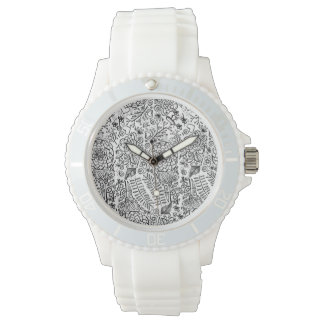 doodle floral wristwatches