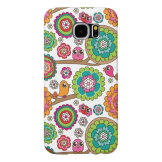 doodle flowers background pattern samsung galaxy s6 cases
