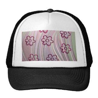 doodle flowers mesh hat