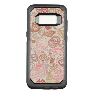 Doodle food pattern dessert OtterBox commuter samsung galaxy s8 case