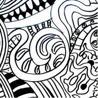 Doodle fotoskulptur acrylic cut outs