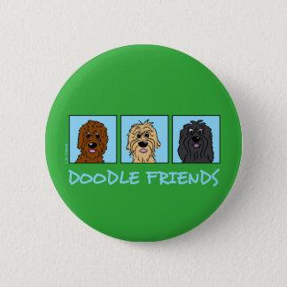 Doodle Friends 6 Cm Round Badge
