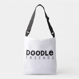 Doodle Friends Cross-Body Tote (Text Only)
