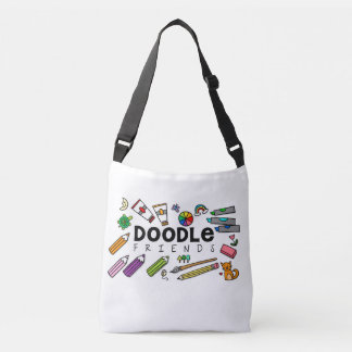 Doodle Friends Cross-Body Tote (with doodles)
