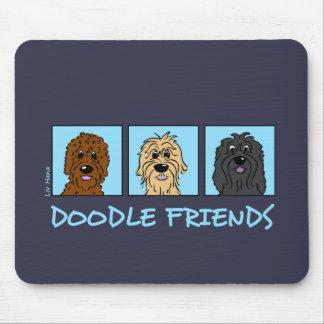 Doodle Friends Mouse Pad