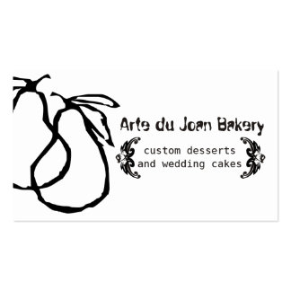 Doodle hand drawn pears fruit bakery catering pack of standard business cards