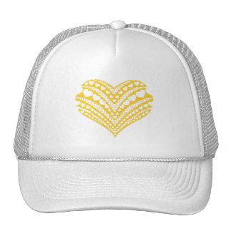 Doodle heart3 yellow hat