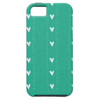 Doodle Hearts in Turquoise iPhone 5 Cover
