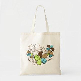 Doodle Hibiscus Tote Bag