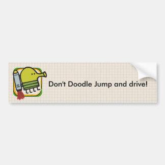 Doodle Jump Bumper Sticker