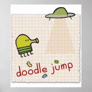 Doodle Jump Canvas Print
